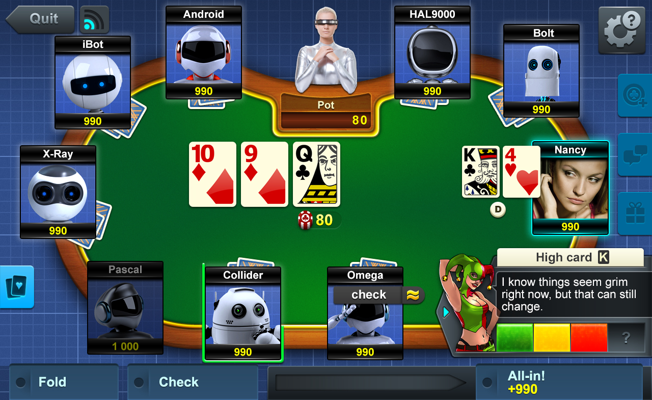 online 3 card poker for free